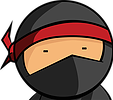 Cartoon picture of a ninja