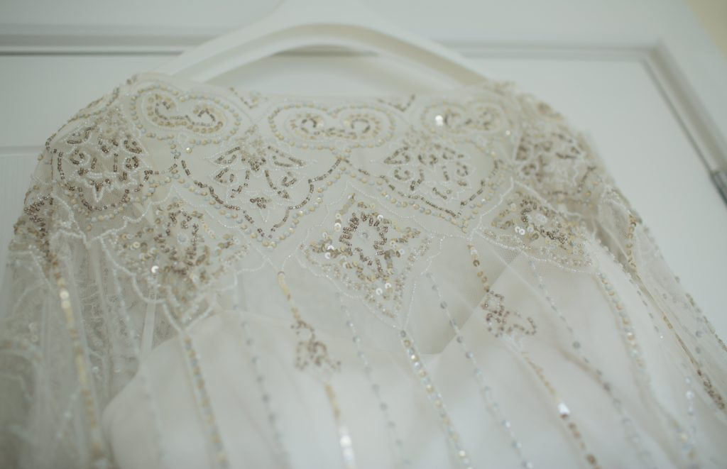 detail photo of eliza howell wedding dress