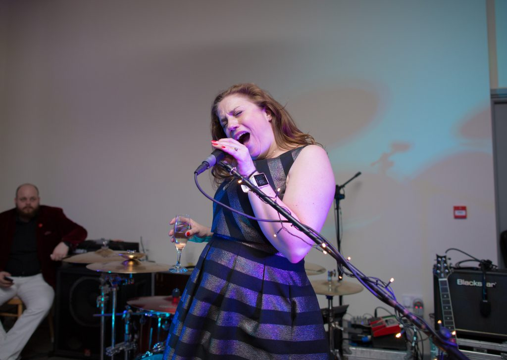 wedding guest singing