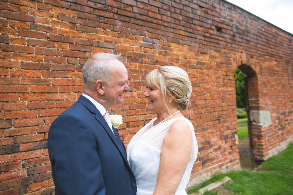 photo of newly married couple at brocton hall
