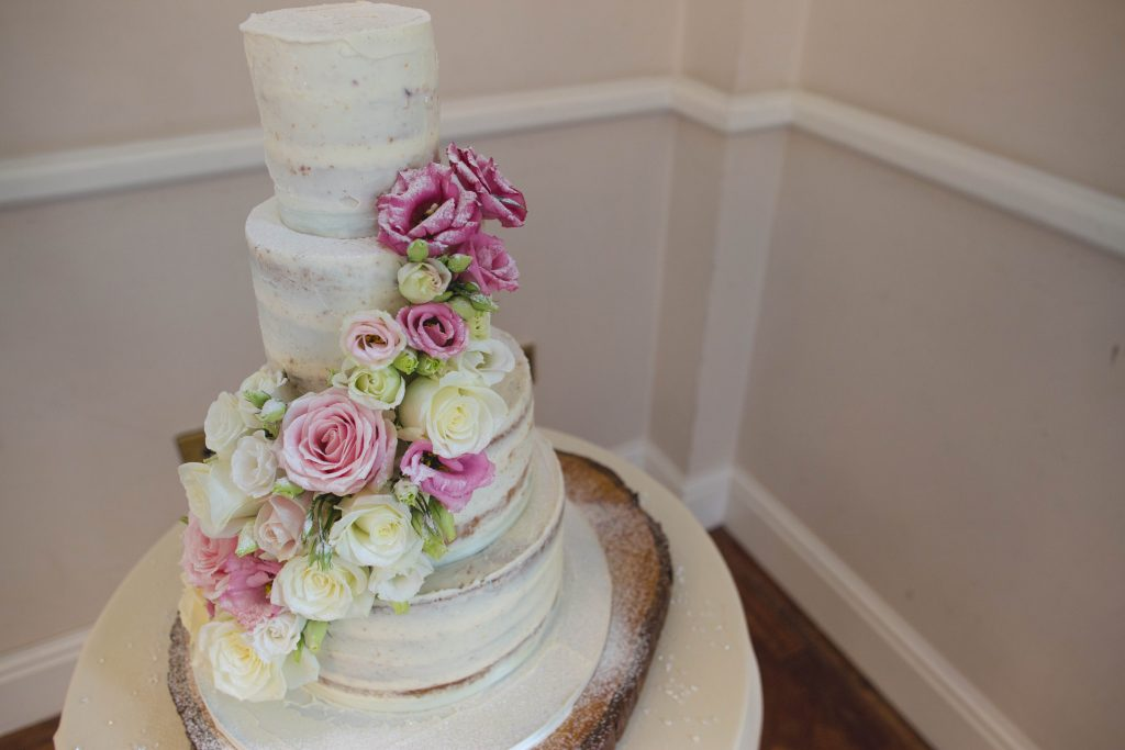 wedding cake at brocton hall wedding