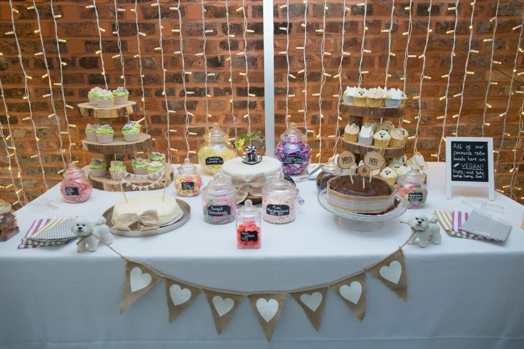 wedding cakes on table at holford estate