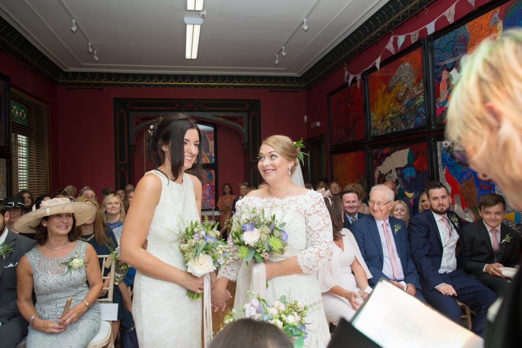 wedding ceremony at the old parsonage