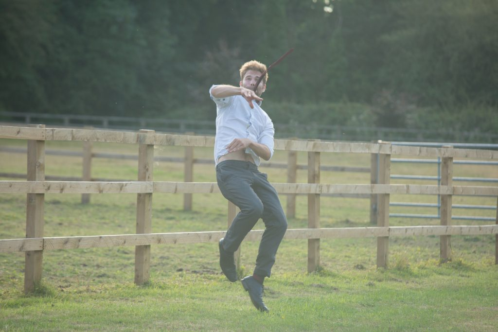 wedding guest playing rounders