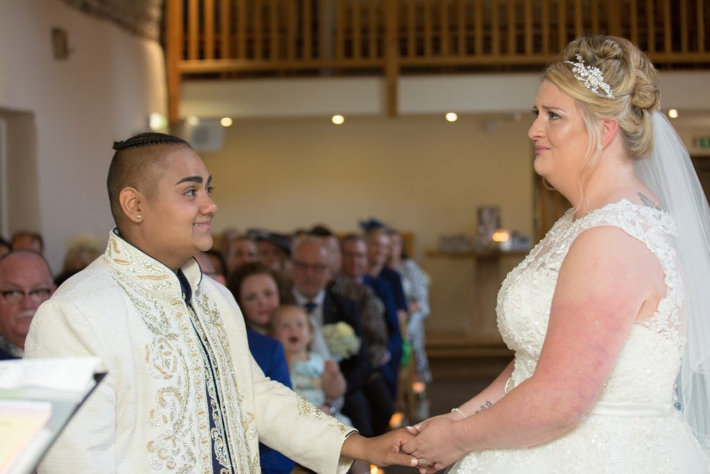 photo of emotional bride at The Ashes