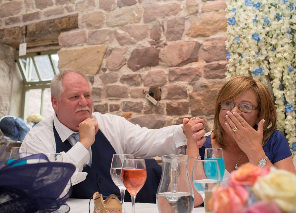 brides emotional parents during speeches