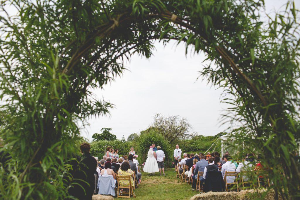 photo of outdoor wedding ceremony