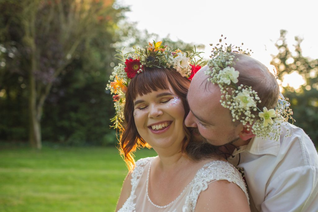 wedding day photo of husband and wife