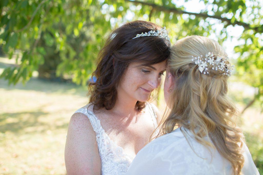 wedding day portrait of two brides